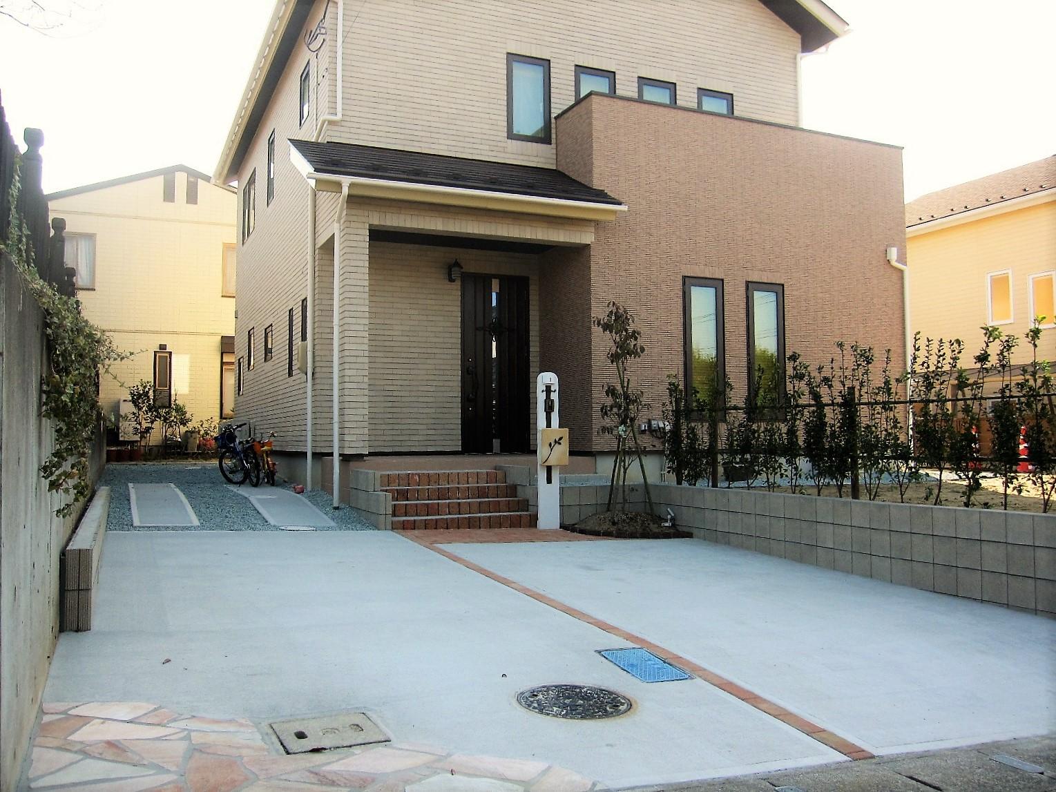 仙台外構施工事例_自然石の乱張り_04